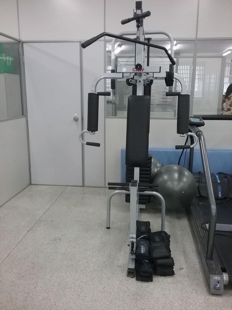 Estação de musculação